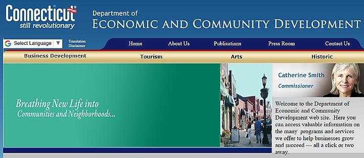 Screengrab of DECD website