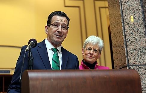 Gov. Dan Malloy and Lt. Gov. Nancy Wyman