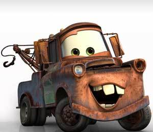 """Mater from the Pixar movie """"Cars"""""""