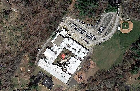 Aerial view of Sandy Hook via Google Maps