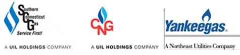 Three gas company logos