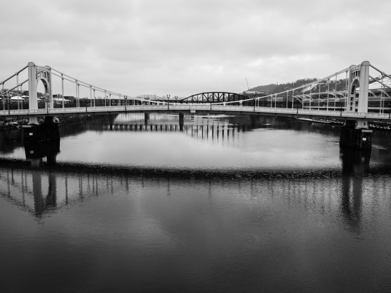Image of one of the Three Sisters Bridges in Pittsburgh, Pennsylvania in 2021. (Dean Pagani / All rights reserved)