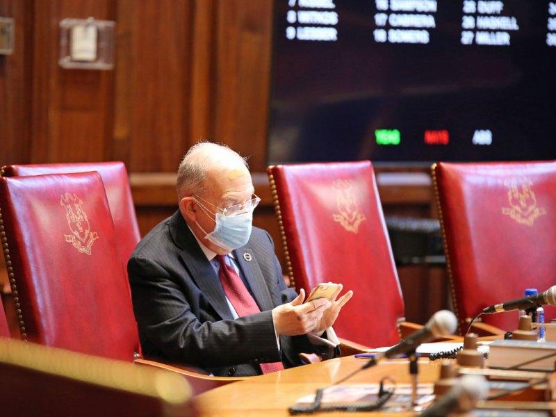Senate President Martin Looney (Christine Stuart / CTNewsJunkie)