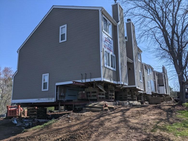 A raised condo building at Ryefield Condominiums in Vernon (Hugh McQuaid/CTNewsJunkie)