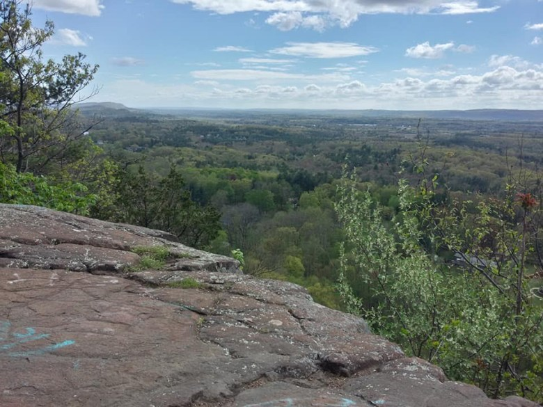 The view from the Metacomet Trail in East Granby, Connecticut.