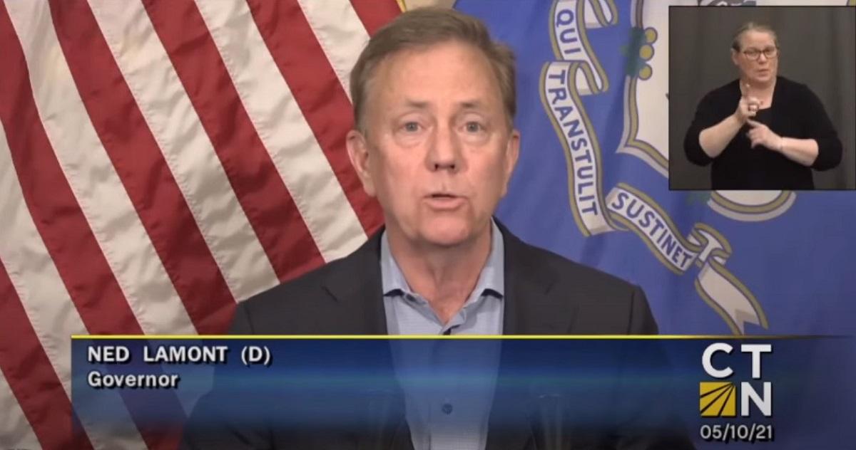 Screen capture of Gov. Ned Lamont (courtesy of CTN)