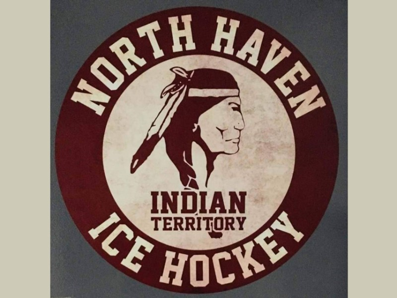 The North Haven Indians varsity ice hockey team's logo, from the team's Facebook page.