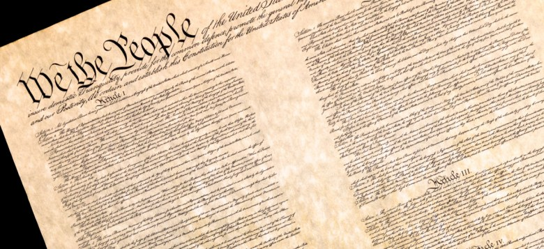 The preamble of the U.S. Constituton. (Jack R. Perry Photography via Shutterstock)