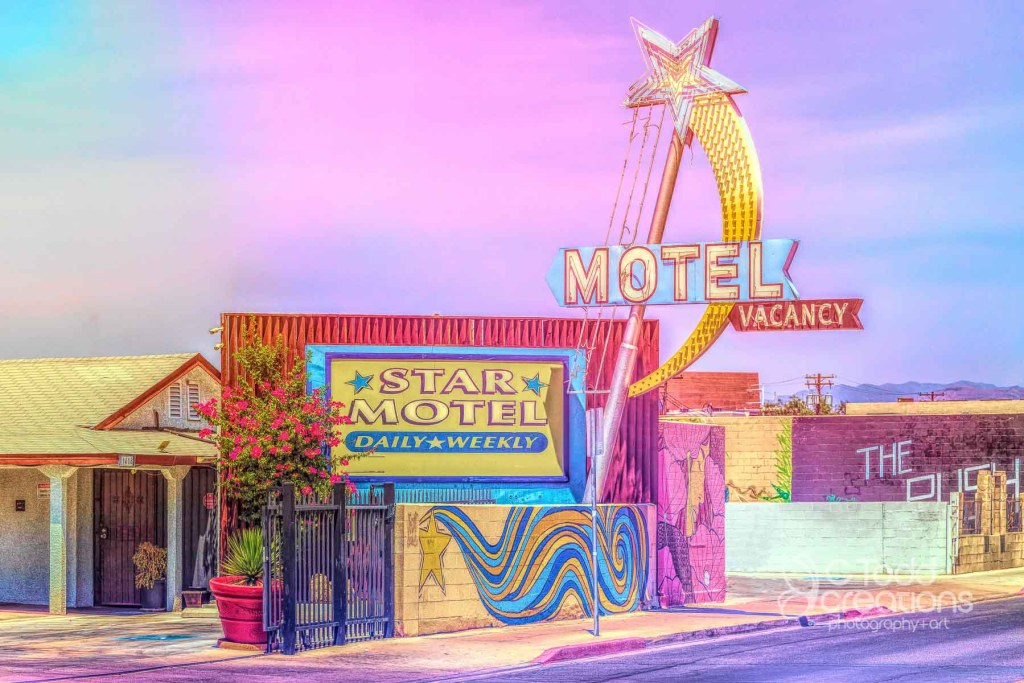 fine art picture of a motel in vegas
