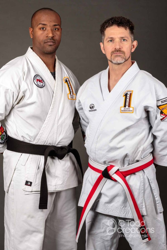 portrait of two karate guys