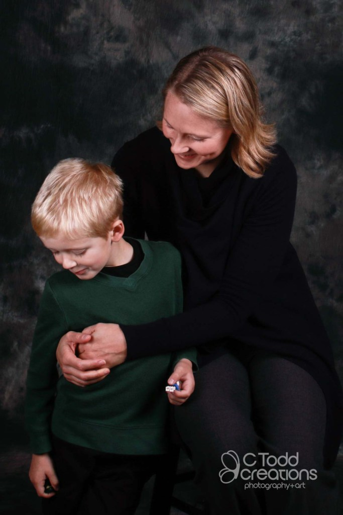 portrait of a mom and son