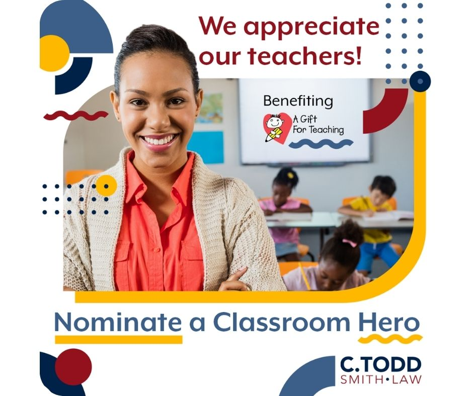 classroom hero giveaway - c todd law - florida - a gift for teaching