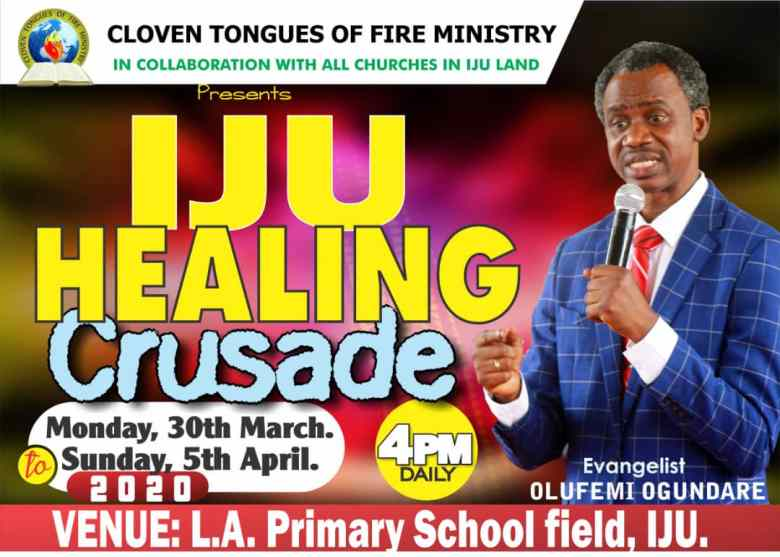 Iju Healing Crusade March 2020 Flyer