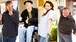 Eric Mee, Michael O'Connell, Nina G and Steve Donner are The Comedians with Disabilities Act
