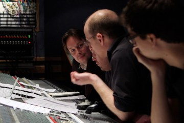 Joris de Man (left), during the recordings of the Killzone 3-soundtrack.