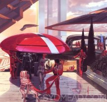 Artwork by Syd Mead that partly inspired Mass Effect's arc