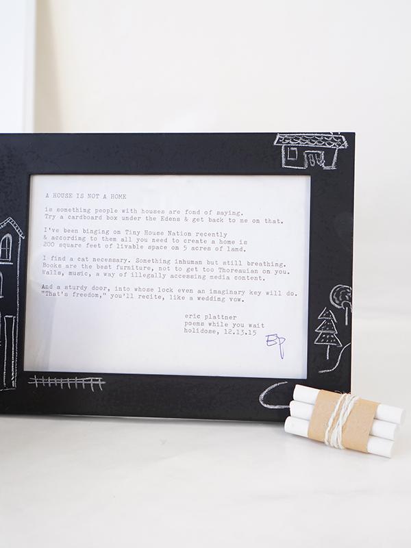 Chalk It Up: DIY Chalkboard Valentine Candle