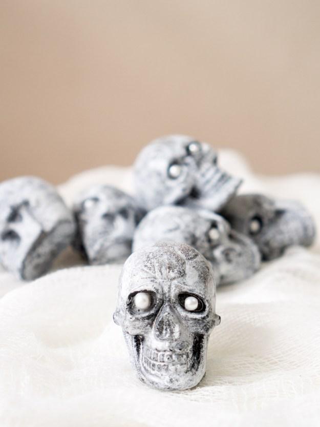 faux stone skull