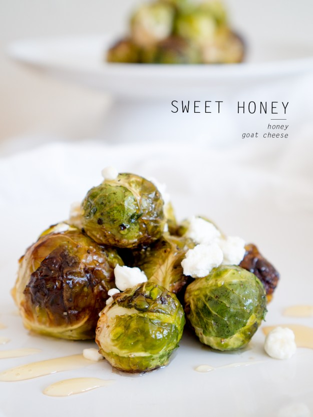 honey and goat cheese brussels sprouts