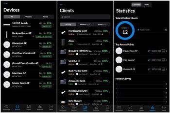 لقطات من تطبيق UniFi Network