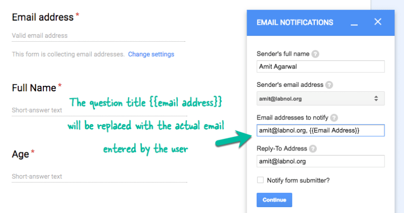 How to Email Google Form Responses to Multiple People