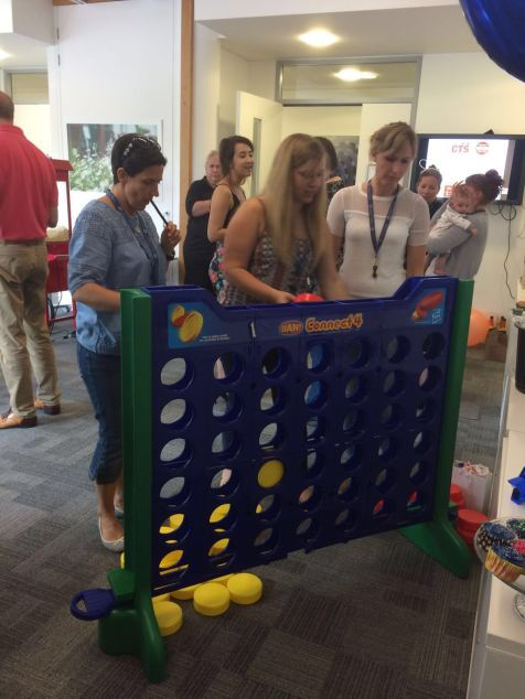 Connect 4 during our party