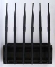 6 Antenna Cell Phone,GPS,WiFi,VHF,UHF Jammer