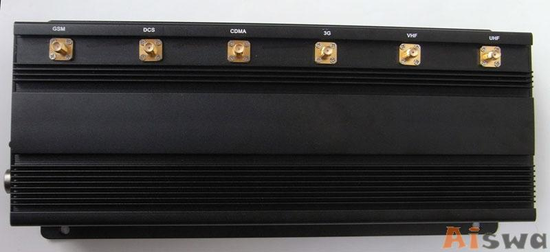 High Power 6 Antenna GPS,WiFi,VHF,UHF and Cell Phone Jammer CTS-JU6 1