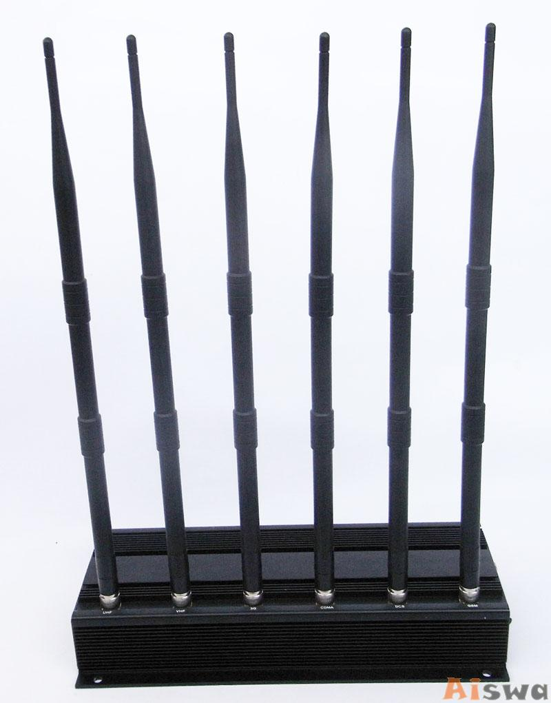 High Power 6 Antenna GPS,WiFi,VHF,UHF and Cell Phone Jammer CTS-JU6