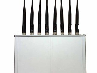 8 Antennas High Power 16W Mobile phone 3G 4G WiFi Jammer with Cooling Fan
