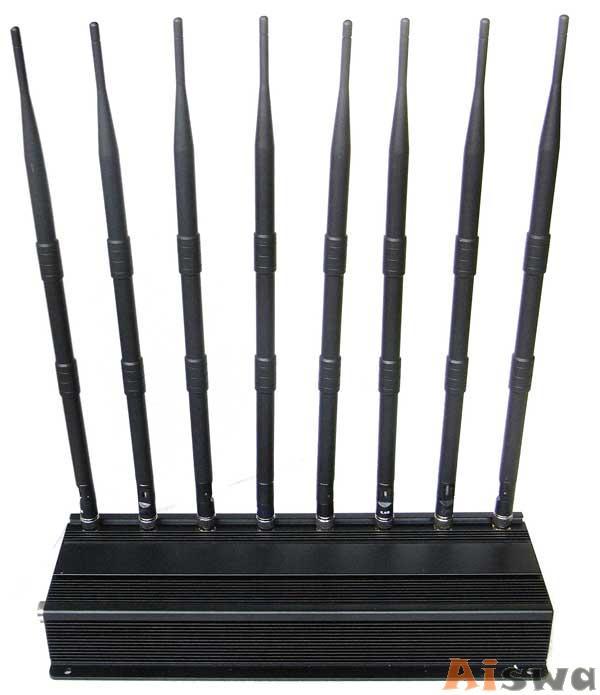 PROFISSIONAL 8 ANTENAS REFRIGERADO DE BLOQUEADOR DE CELULAR GSM-GPS-3G-UHF-VHF-LOJACK 1