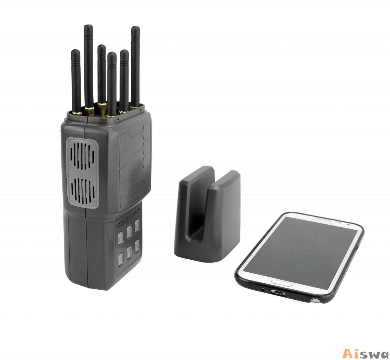 Handheld Cellphone Jammer WIFI and GPS jamming device with  6 bands 4