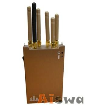 Portable Cell Phone 3G 4G WiFi Bluetooth and GPS Jammer