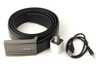 Hidden Leather Belt Camera