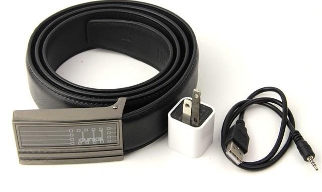 Hidden Leather Belt Camera