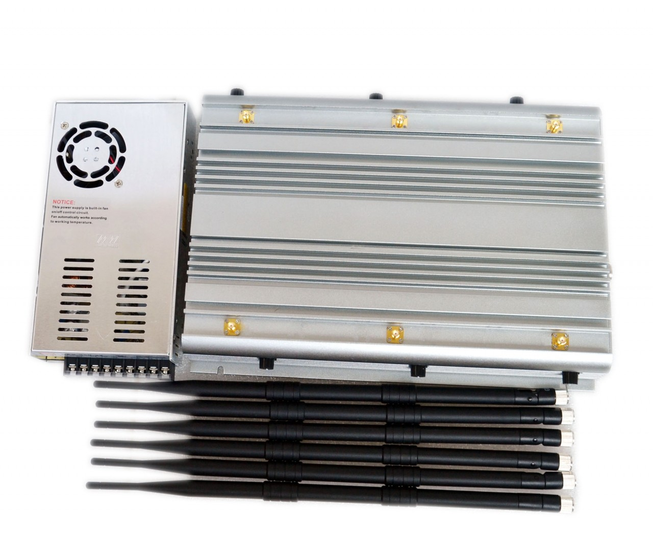 Adjustable 70W Powerful Jammer 2G 3G 4G Phone Jammer for 100 Meters 3