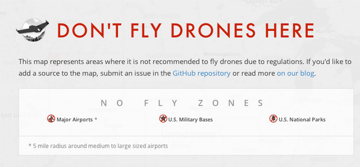 Don't fly drones here
