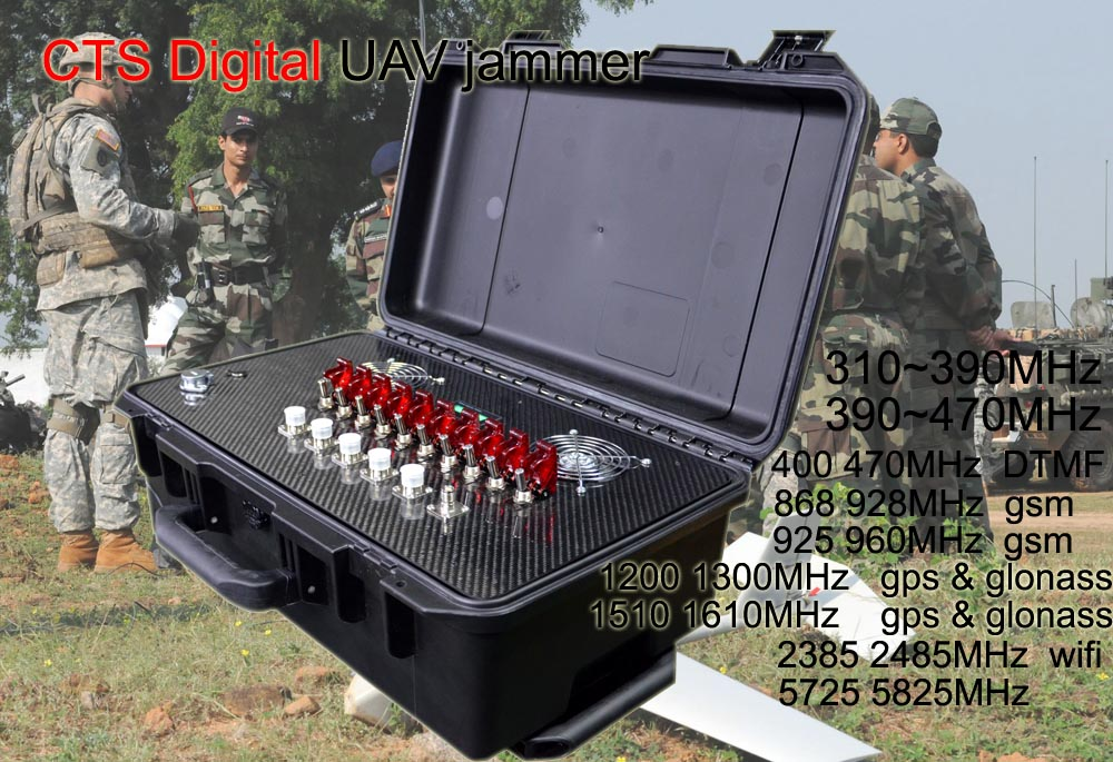 Full band digital drone jammer inlcude 310~470Mhz  5000M