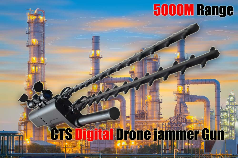 Generation 3 digital drone jammer gun 3 in 1 for 5000M
