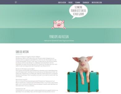 Aktions-Website: Penelope auf Reisen