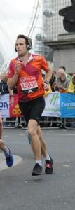 man running Winchester half marathon
