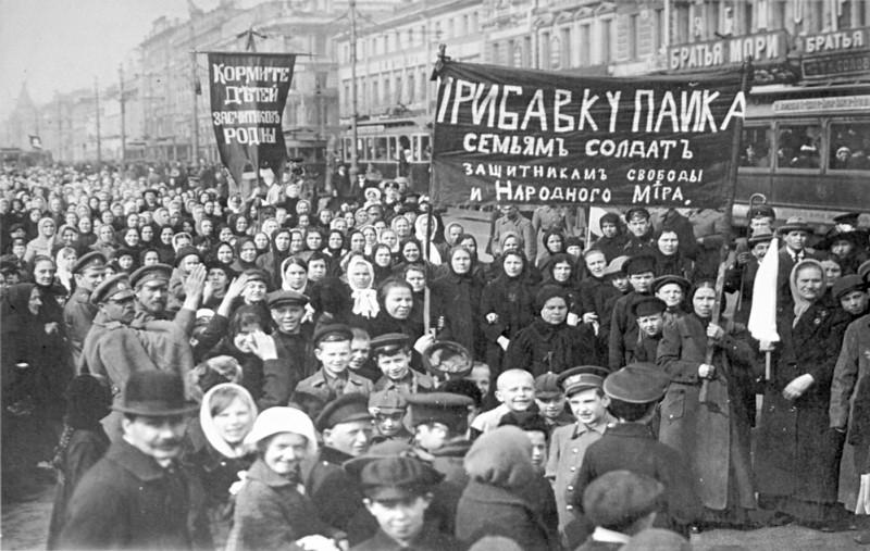 <p>Una imagen de la manifestación del 8 de marzo de 1917, en Petrogrado.</p>