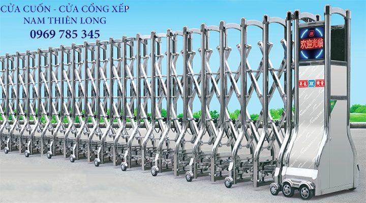 cua cong hop kim nhom - Cửa cổng xếp công nghệ mới