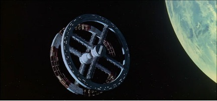 Imagen 2. Estación espacial circulatoria de '2001: Odisea en el espacio'.