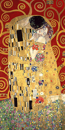 2GK4486 - Klimt - The Kiss (Red variation)