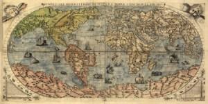 2MP1629 - Paolo Forlani - Universale descrittione di tutta la terra, 1565 {H3 - Mapas}