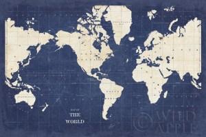 Blueprint World Map - No Border