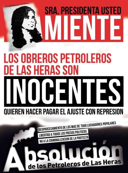Comité de apoyo por la absolución de los petroleros de Las Heras