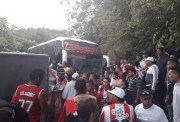 Se accidenta bus que transportaba a hinchas del Junior