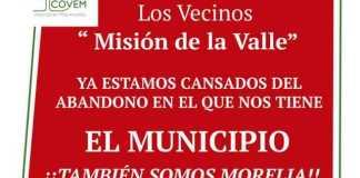 COVEM vecinos Mision del Valle inseguridad